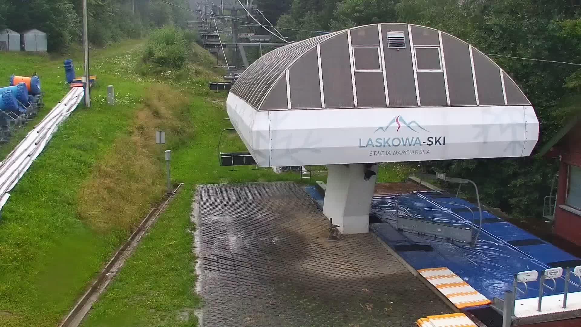 obraz z kamery odświeża się automatycznie co godzinę -  jeśli chcesz zobaczyć aktualn&#261 sytuację na stoku kliknij KAMERA LIVE