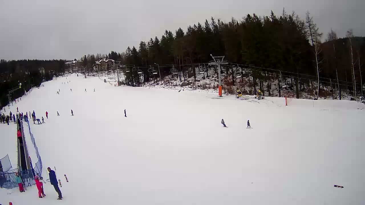 Webcam Skigebiet Karpacz Bei der Kirche Wang - Riesengebirge