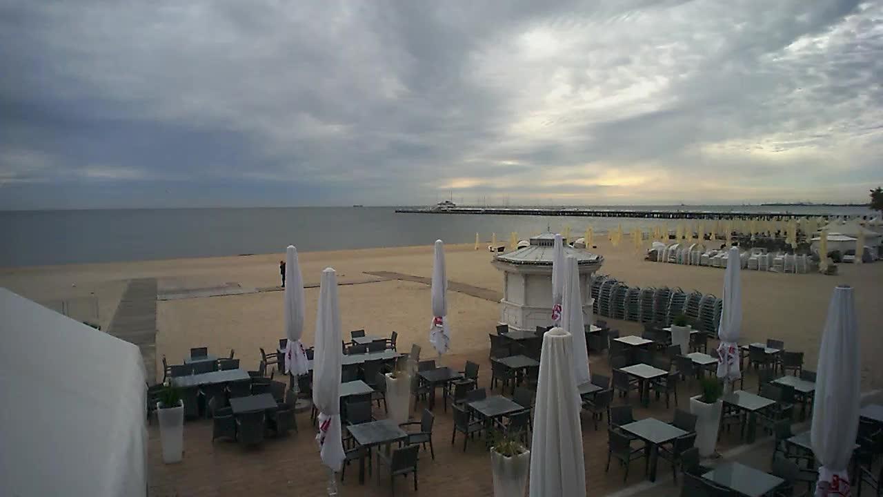 Plaża z restauracji Smak Morza